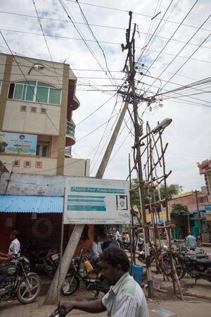 tamil nadu: Street scene in Mahabalipuram, Tamil Nadu, India. 2015-08-27
