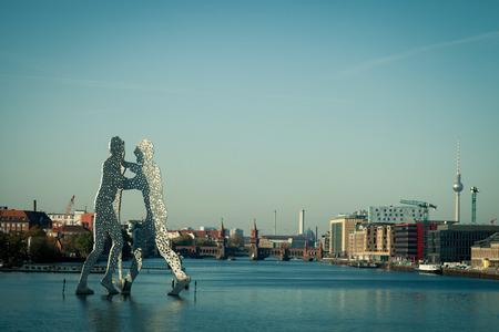 spree: The Molecule Man on the river Spree in Berlin