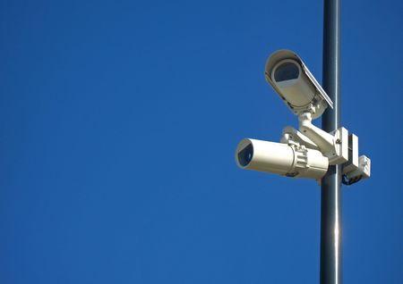 closed circuit: Monitoring cameras