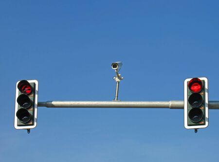 señales de transito: Las luces de tráfico y de la cámara