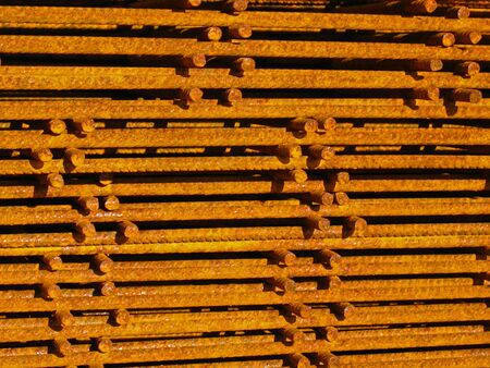 reinforcing: Pile of reinforcing mats Stock Photo