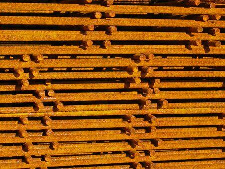 statics: Pile of reinforcing mats Stock Photo