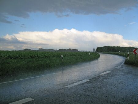 downpour: Drenching rain