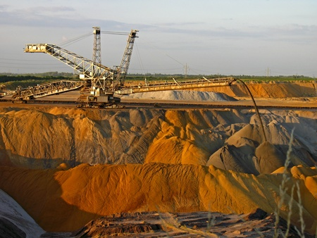 mine: Spreader in the opencast mining Garzweiler II in Germany