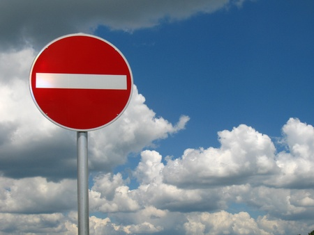 prohibitive: German traffic sign: no entry for access