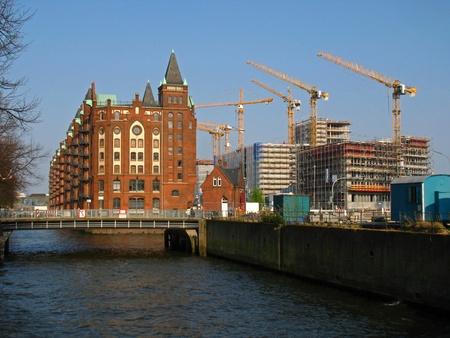 Warehouse district in Hamburg photo