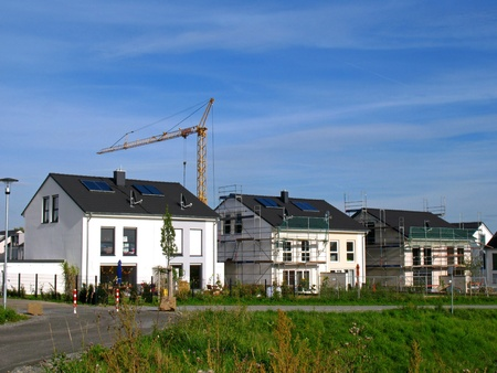 housing development: Detached houses