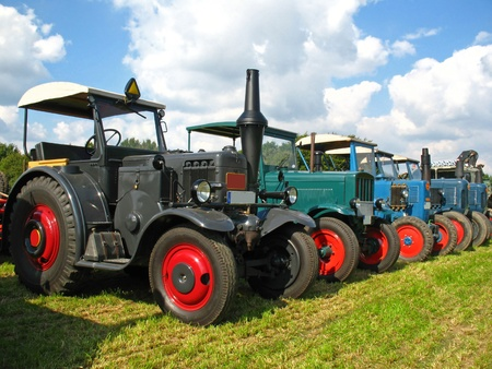 old tractors: Old Lanz and Hanomag tractors