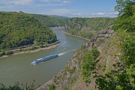 The Rhine at the Loreley in Germany                     photo