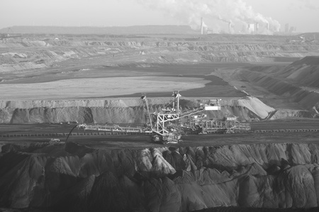 coal fired:  Lignite mining and power station