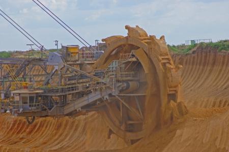 degrading: Bucket wheel excavator
