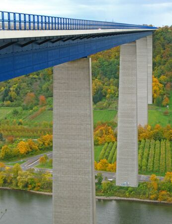 Highway bridge over the Moselle in Germany photo