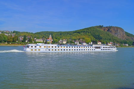 River cruise ship on the Rhine in Germany