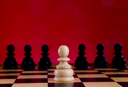 mental object: chess pieces on the board