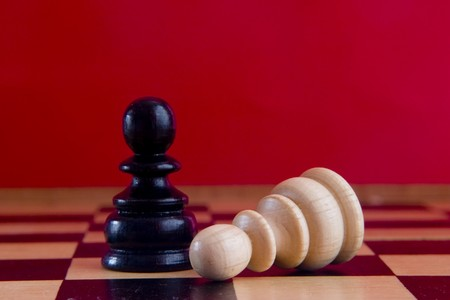 chess pieces on the board Stock Photo - 4076087