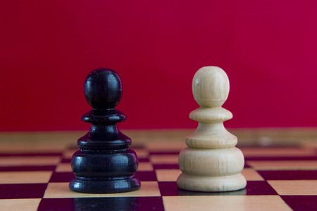 chess pieces on the board Stock Photo - 4076090