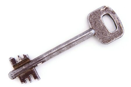 close up of key on white background with path Stock Photo - 4091322