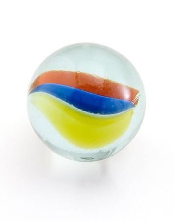 marbles: m�rmol sobre fondo blanco con saturaci�n camino Foto de archivo