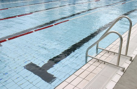 olympic swimming pool ready for sports copetition  photo