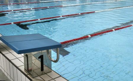piscina olimpica: piscina ol�mpica dispuesta para el deporte copetition