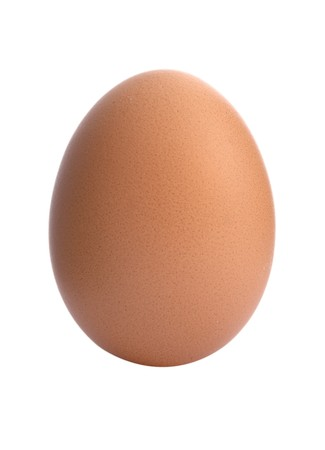 close up of egg on white background with path Stock Photo - 4231780