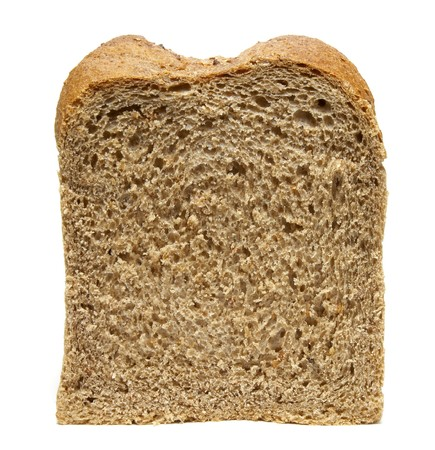 life loaf: still life of bread loaf on white background  Stock Photo