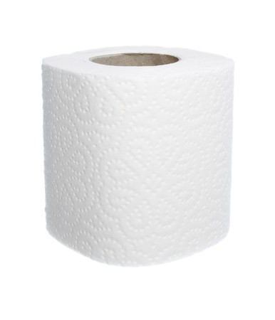 close up of white toilet paper on white background photo