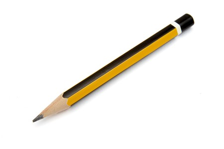 close up of small pencil on white background Stock Photo - 4362584