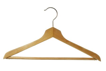 close up of on a clothes hanger on white background Stock Photo - 4362702