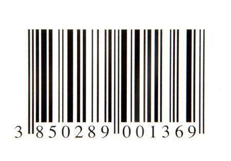 Nahaufnahme von Barcode auf weißem Hintergrund