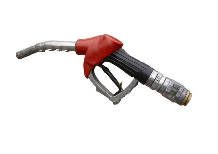 close up gas pumpon white background  photo