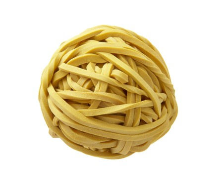 daily life: close up of rubber band ball on white background