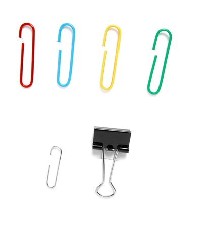 close up of various pushpins  on white background  Stock Photo - 4482512