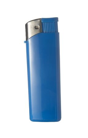 close up of lighters on white background photo