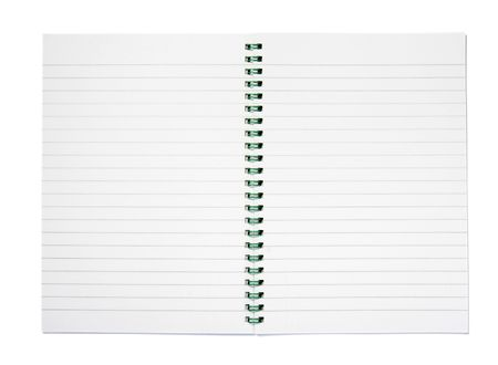 scratchpad: close up of notebook on white background Stock Photo