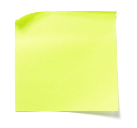 annotation: close up of postit reminders on white background Stock Photo