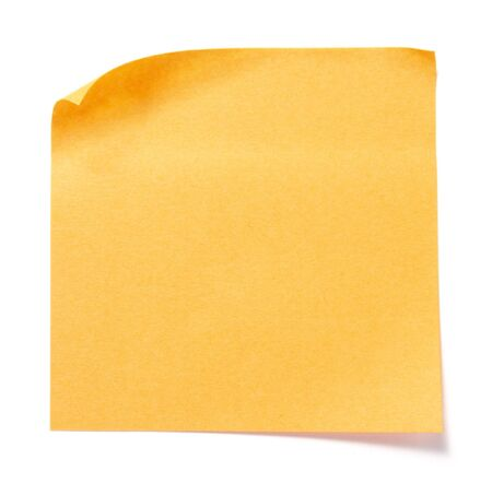 close up of postit reminders on white background photo