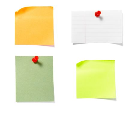 close up of postit reminders on white background . each one is in cameras full resolution Stock Photo - 4603273