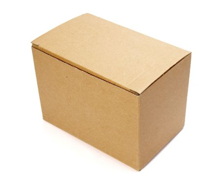 close up of carton  box  on white background Stock Photo - 4603166