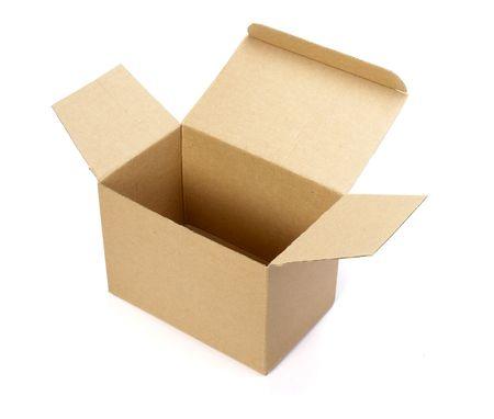 close up of carton  box  on white background Stock Photo - 4603357
