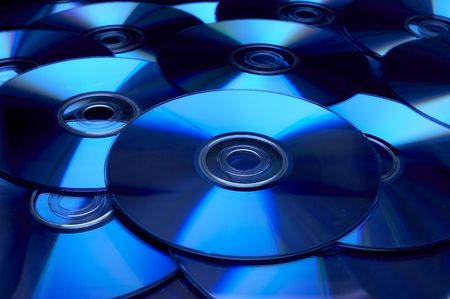 dvdrw: close up of bach of compact disc  Stock Photo