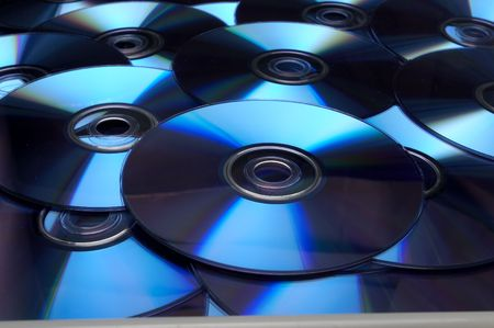 close up of bach of compact disc  Stock Photo