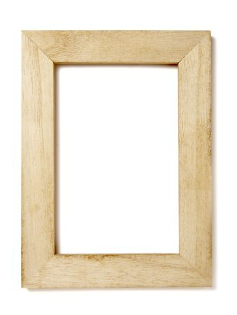 creative pictures: wooden frame for painting or picture on white background