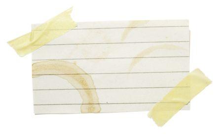 hot announcement: colecci�n de recordatorios con manchas marcas de caf� en el fondo blanco. cada uno es la m�xima resoluci�n en las c�maras