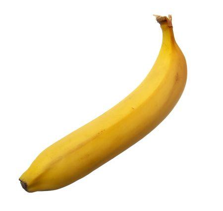 ailment: still life of banana on white background
