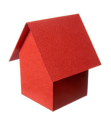 close up of miniature house  on white background photo