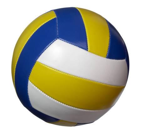 pelota de voley: Volley Ball en el fondo blanco