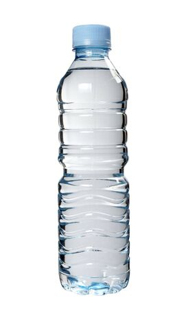 kunststof fles: close-up van de plastic fles op een witte achtergrond met clipping path