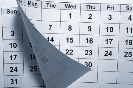 journal intime: pr�s de calendrier Banque d'images