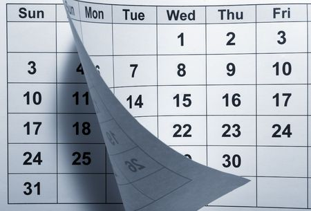 calendar day: close up of calendar